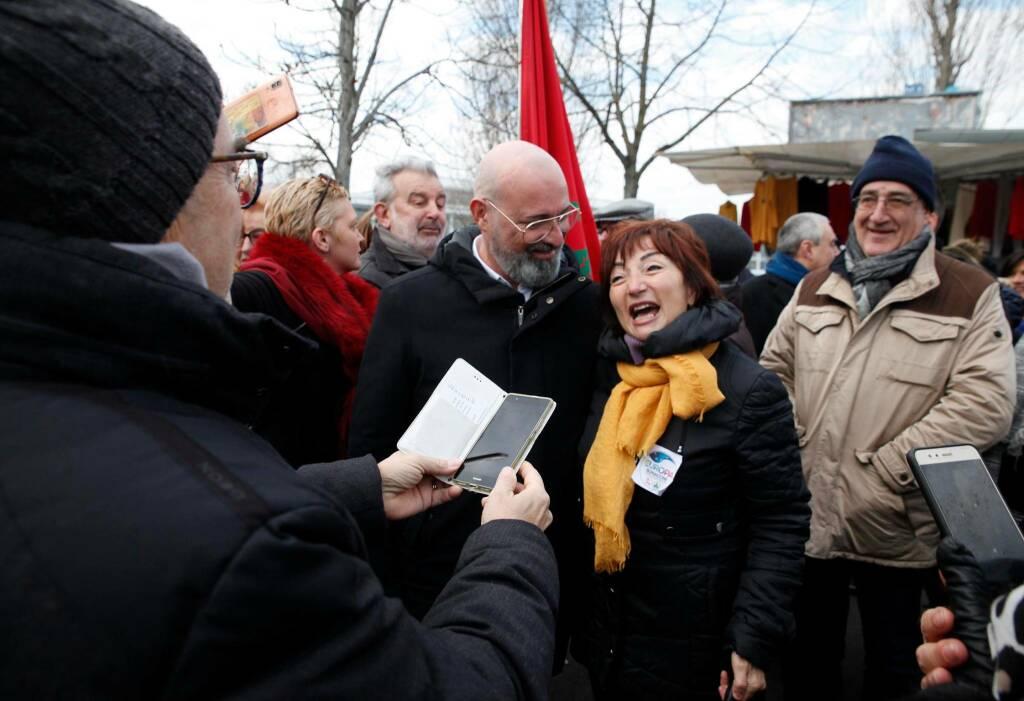 Stefano Bonaccini in visita a Ravenna