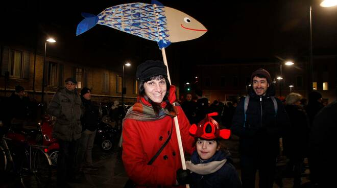 24 gennaio 2020: le Sardine in Piazza Kennedy a Ravenna