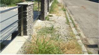 ex marciapiedi di Via Bartolini a Ravenna
