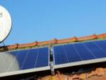 l'inaugurazione di un piccolo impianto fotovoltaico,