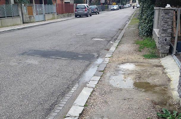 marciapiedi via bartolini ravenna
