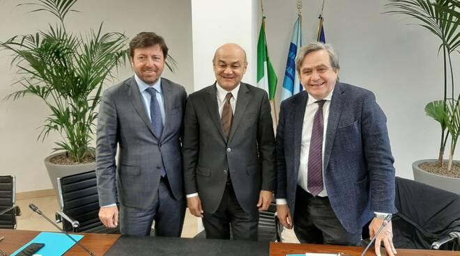 Francesco Milza, Massimo Mota e Giovanni Monti