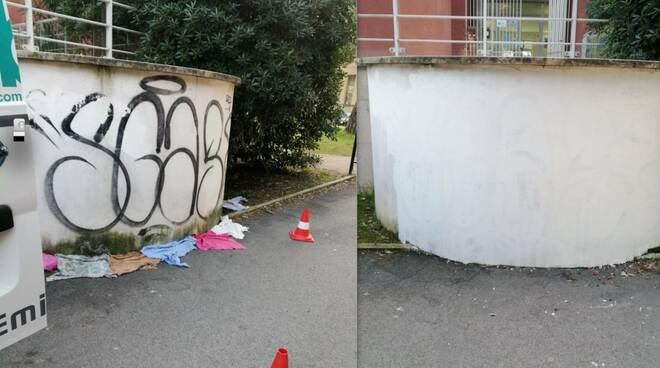 pulizia muri forlì