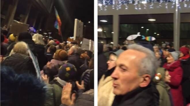 Salvini a Lugo: le Sardine invadono Largo della Repubblica
