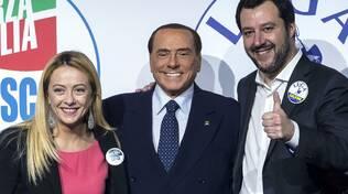 Salvini, Meloni, Berlusconi