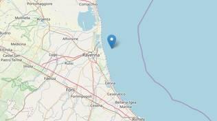 terremoto Ravenna 24 gennaio 2020, epicentro