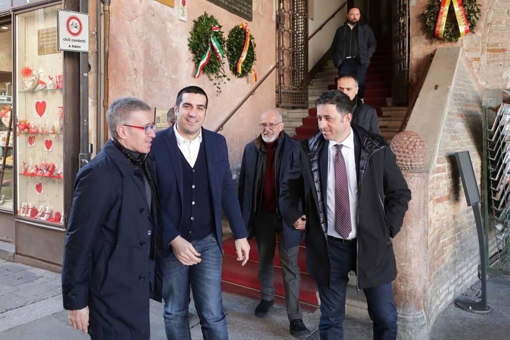 Claudio Fenucci,  Bologna calcio a Ravenna - incontro con sindaco e assessori