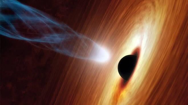 Eruzione buco nero