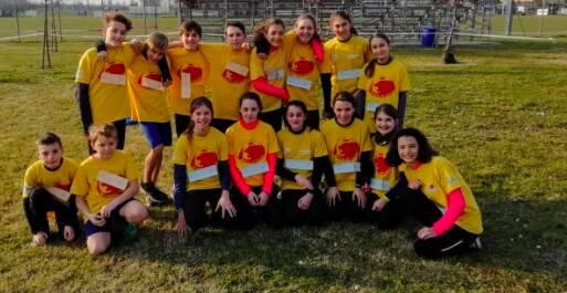 Gli atleti impegnati a Parma nel Meeting regionale giovanile indoor