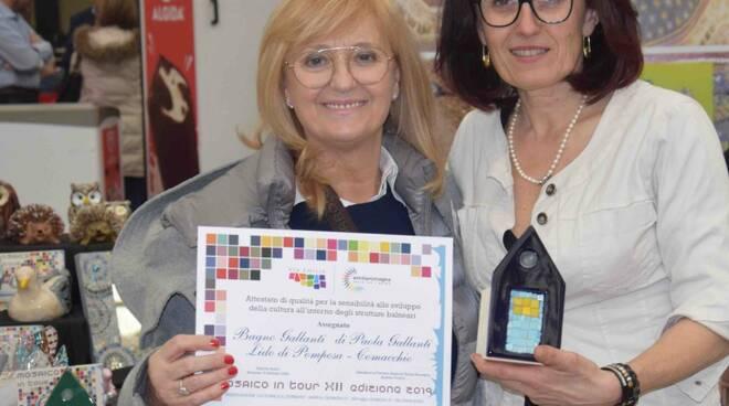 """Premiati alla Fiera Balneari di Ravenna gli imprenditori che ospitano i laboratori di """"Mosaico in tour"""""""