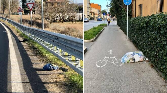 """Rifiuti abbandonati in strada. Bentivogli (Lega): """"Forlì non è una discarica"""""""