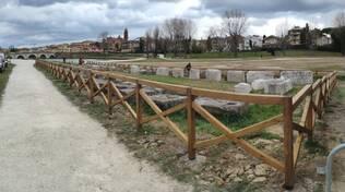 Rimini. Nuova protezione e sorveglianza per i reperti al Parco XXV Aprile