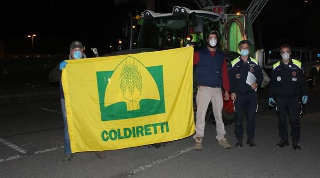 Coronavirus. Trattori Coldiretti mobilitati per sanificare le strade dell'Emilia Romagna