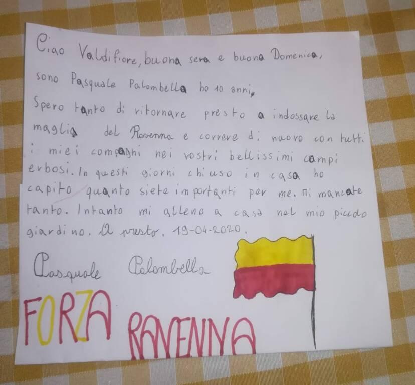 La lettera di un piccolo calciatore giallorosso