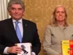 Nella foto, la presidente del Rotary club Ravenna Amelia Tienghi e il presidente del Rotary club Lugo Paolo Pasquali.