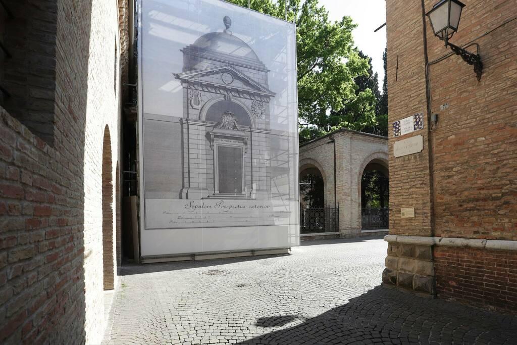 Restauro Tomba di Dante aprile 2020