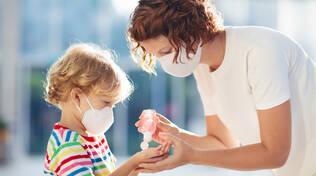 bambino mascherina lavaggio mani
