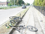 incidente ciclisti fusignano