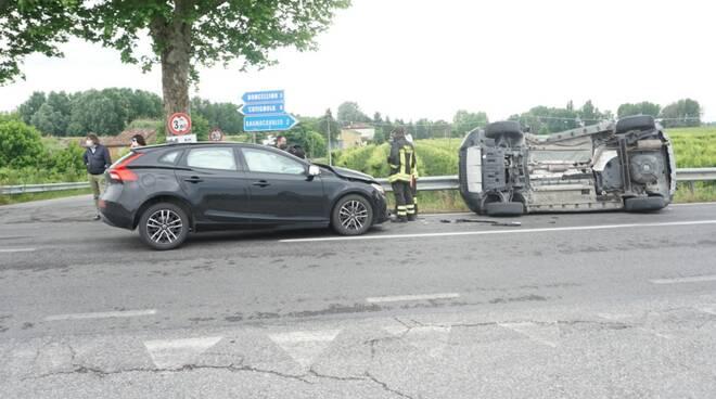 incidente stradale tra Bagnacavallo e Russi