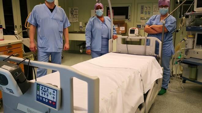 letti terapia intensiva ospedale Forlì - Donazione Fondazione Cassa Forlì