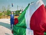 Nilde Iotti inaugura il monumento alle mondine nel 1990