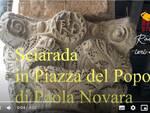 Paola Novara svolge la 'sciarada' celata sui capitelli in Piazza del Popolo VIDEO