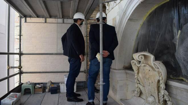 tomba di dante - lavori di restauro