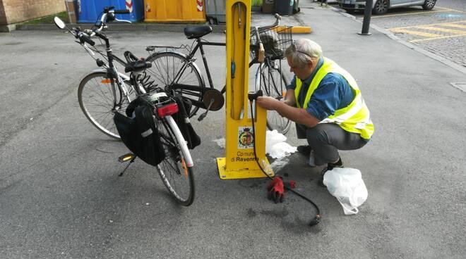 colonnine manutenzione bici Ravenna