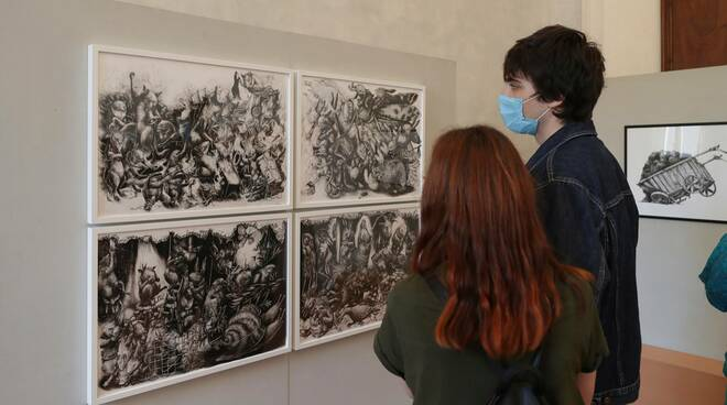 Ericailcane arriva a Ravenna: inaugurata la mostra a Palazzo Rasponi