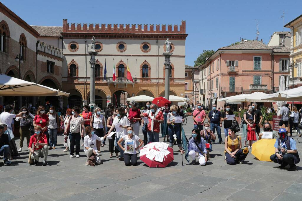 flash mob guide turistiche in piazza del Popolo a Ravenna