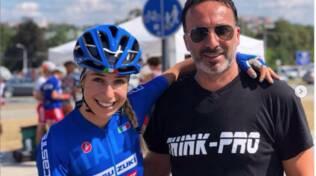 La Campionessa Sofia Collinelli con il papà Andrea