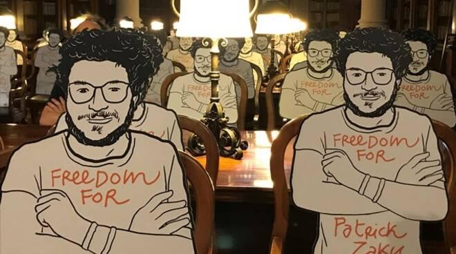 150 sagome di Patrick Zaky realizzate dall'artista ravennate Gianluca Costantini
