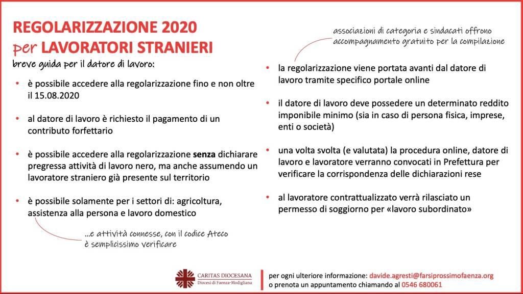 Caritas Faenza-Modigliana: attivo lo sportello informativo per la regolarizzazione stranieri