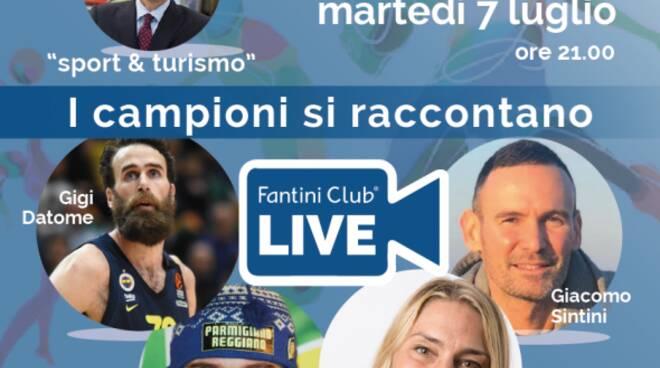 Cervia. Fantini Club Live, i campioni dello sport si raccontano