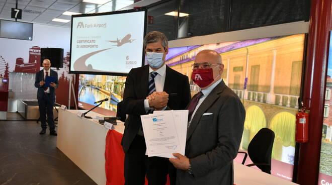 Forlì Airport ha ricevuto da ENAC il Certificato di Aeroporto: