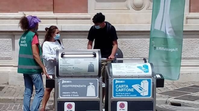 isola ecologica interrata di Piazza Andrea Costa di hera ravenna