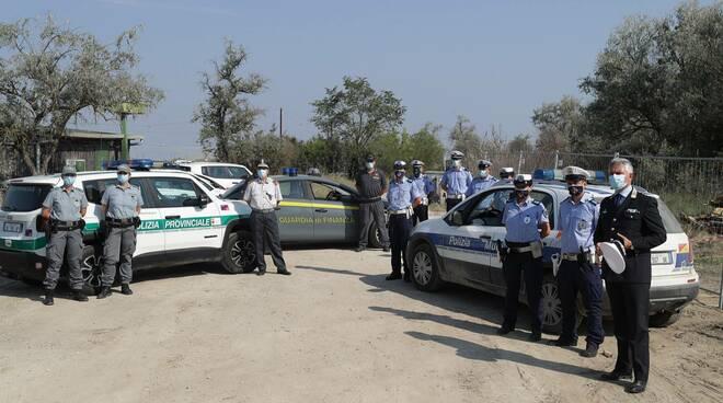 Piallassa Baiona Soprallugo Polizia Locale Giacomini a fine lavori di bonifica