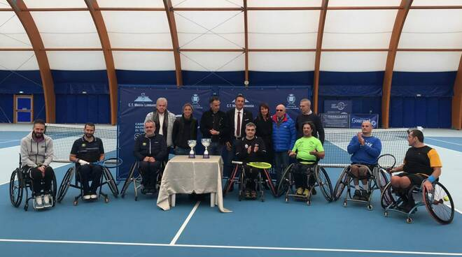 tennis in carrozzina - premiazione Oremplast Tenns Arena in occasione del torneo in carrozzina del novembre 2019