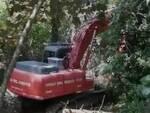 escavatore VVFF