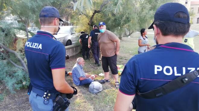Polizia di Stato-Controlli al parco Murri di Rimini