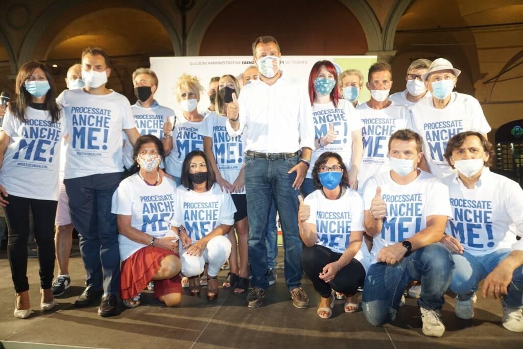 Salvini a Faenza per il candidato sindaco Paolo Cavina
