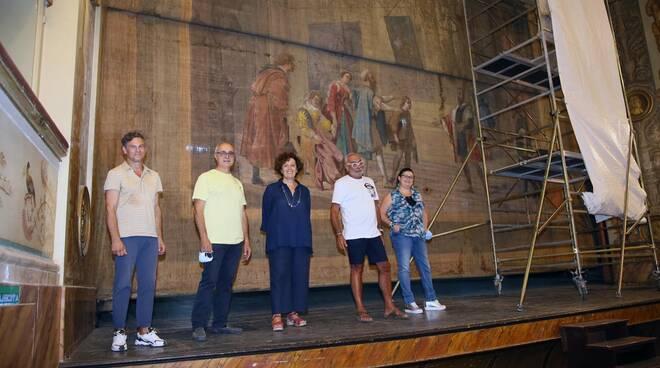 sipario teatro bagnacavalli - restauro