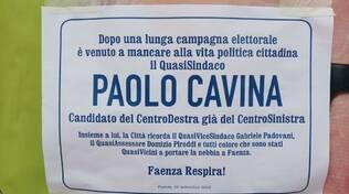 annuncio funebre - Cavina - politica