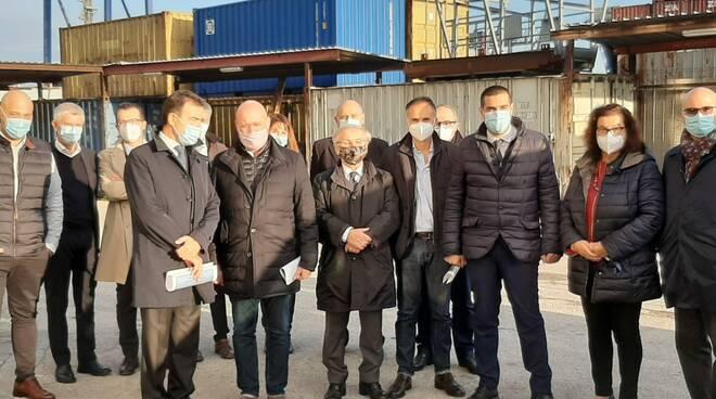 Bonaccini in visita al porto di Ravenna - 13 ottobre 2020