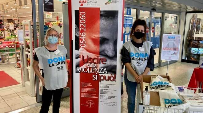 Colletta alimentare : l'Associazione Sos Donna ringrazia la cittadinanza faentina
