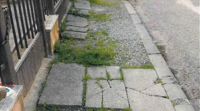 marciapiedi di via Bartolini Ravenna
