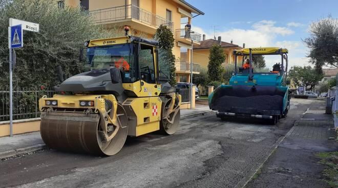 Savignano-lavori di asfaltatura