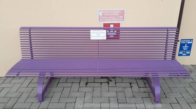 Rossetta - inaugurazione panchina rossa e panchina viola - 25 11 2020