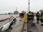 marina di ravenna - peschereccio affondato - maltempo 2 12 2020