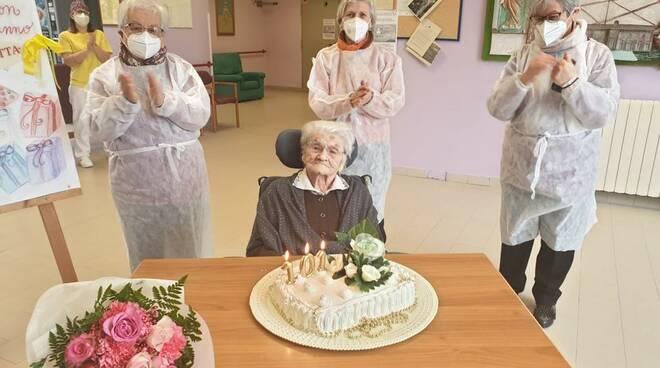 Concetta Gasperoni ha compiuto 101 anni: gli auguri del Sindaco di Cervia